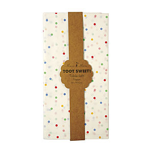Multi Coloured Spotty Paper Table Cloth - table decorations