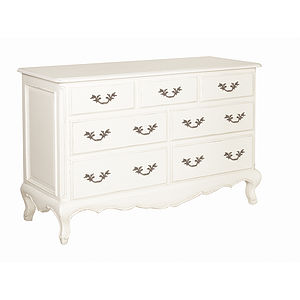 White Seven Drawer French Chest - furniture