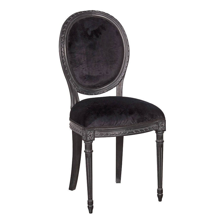 black french dining chair by out there interiors  : originalblack french dining chair from www.notonthehighstreet.com size 900 x 900 jpeg 44kB