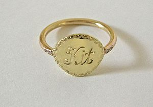 Engraved Name Ring - rings