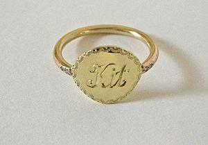 Engraved Name Ring