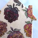 Colourful Rose Print House Brooch