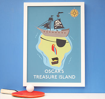 Personalised Child's Treasure Island Print