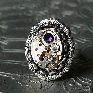Silver Watch Movement Ring - rings