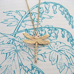 Gold Dragonfly Necklace - fine jewellery