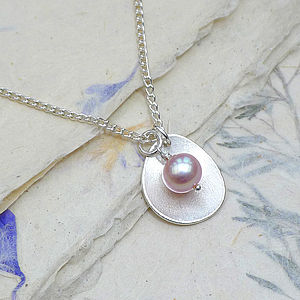 Handmade Pearl Pendant With Silver Petal - necklaces & pendants