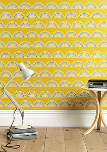 Horseshoe Arch In Yellow Wallpaper - try the trend: yellow and grey