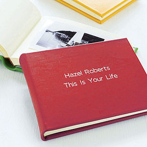 Personalised Leather Photo Album - birthday gifts