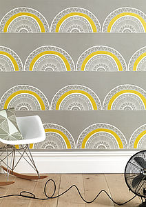 Large Horseshoe Arch Wallpaper - dining room