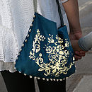 Reflective Baroque Velvet Bag