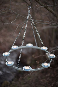 Zinc Etched Tea Light Chandelier - lighting