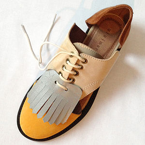 Fringed Shoe Tongue Duo - shoes