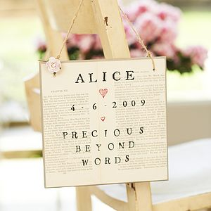 Girls Personalised Sign