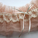 Silk Tulle And Lace Wedding Garter