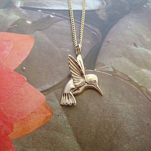 Gold Hummingbird Necklace - necklaces & pendants