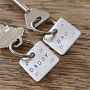 Dad / Daddy Square Key Ring