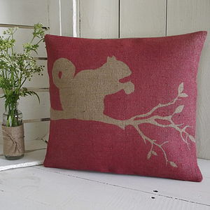 ' Red Squirrel ' Cushion - patterned cushions
