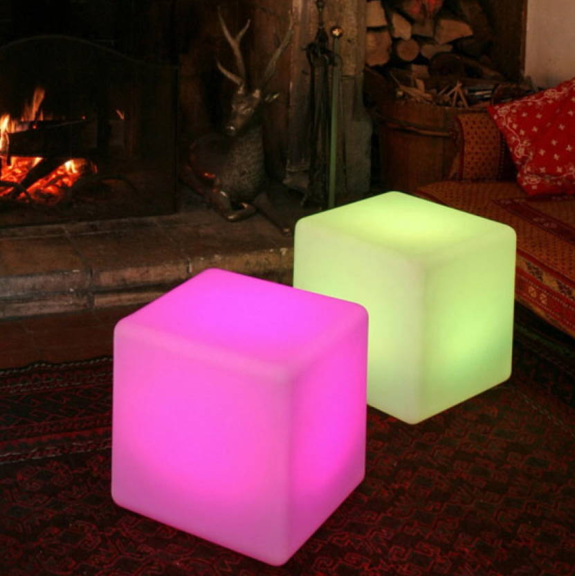 Colour Changing Outdoor Light Cube By Jusi Colour