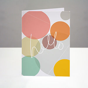 'Hello' Greetings Card - all purpose cards