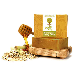 Lemongrass Honey And Oats Soap - bath & body