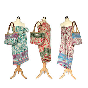 Sarong With Matching Beach Bag