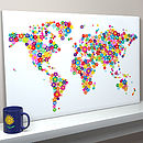Flowers Map Of The World Art Print