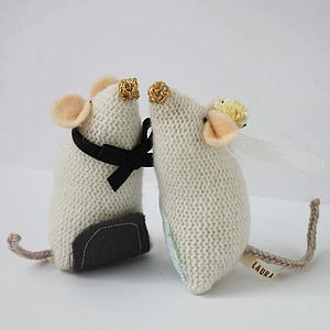 Wedding Mice Toppers - kitchen