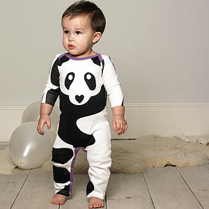 Panda Sleepsuit - baby clothes and accessories