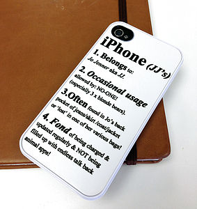 Personalised Definition Case For IPhone