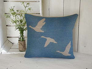 ' Geese In Flight ' Cushion - cushions