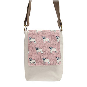 Mini Messenger Dotty Pug Bag - bags & purses