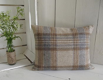 Handmade Luxury Irish Linen And Wool Cushion