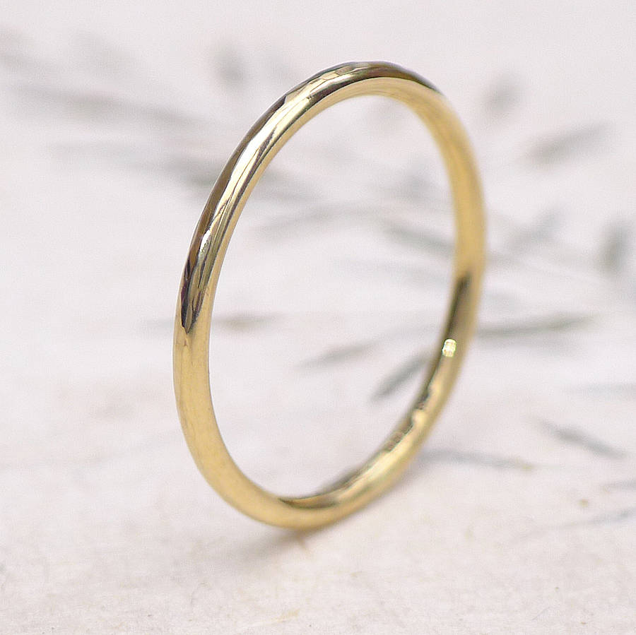 skinny texture thin nodeform ring bands by dsc band wedding hammered gold rose products
