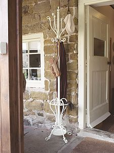 Slender Wrought Iron Coat Stand