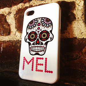 Personalised Sugar Skull Case For IPhone