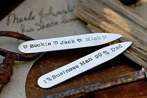 'Dad' Collar Stiffeners - given with love...