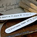 Personalised Dad Collar Stiffeners