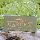 Engraved daddy's garden sign