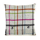 Rainbow Multi Checked Cushion