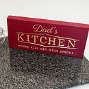 Dad's Kitchen Sign