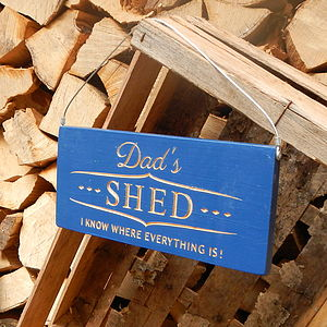 Engraved Wooden Sign For Dad - art & decorations