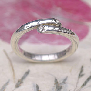 Crossover Diamond Wedding Ring - wedding jewellery