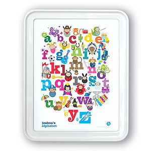Personalised Alphabet Print - children's room