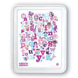 Personalised Girls Alphabet Print