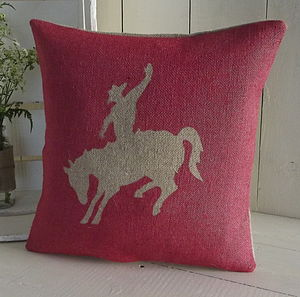 ' Rodeo Cowboy ' Cushion - patterned cushions