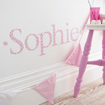 Personalised Pink Twinkle Wall Letter Sticker
