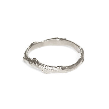 Sterling Silver Infinity Twig Ring