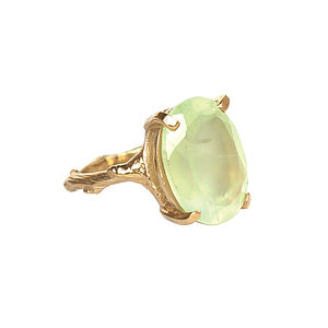 Prehnite & Gold Beauty In The Wild Ring - rings