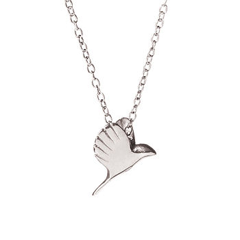 Free Bird Necklace In Silver