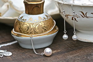 Drop In The Ocean Pearl Drop Necklace